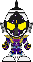 Chibi Kamen Rider Fourze - Meteor Fusion States by Zeltrax987