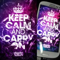 Keep Calm And Carry On Galaxy S3 Wallpaper by GrahamPhisherDotCom