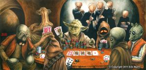 Yoda Playing Poker by Erik-Maell