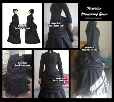 Victorian Mourning Dress by Katikut