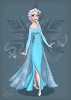 Elsa (Colored) by kuabci