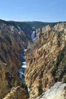 Grand Canyon of the Yellowstone - Lower Falls by ChaosWolfPictures