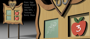 MLP Model - Scoreboard - Point Sign by VeryOldBrony