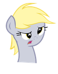 (vectored) derpy expression ( puzzled ) by kuren247