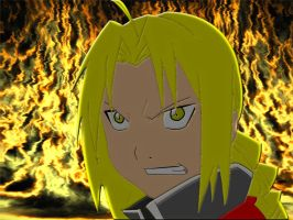 FMA - Ed and Fire Wallpaper by tulsadlance