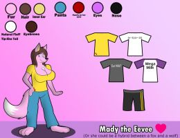 Mady Ref Sheet 2016 by FluffyEevee40