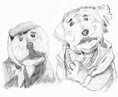 Emmet and Ma Otter sketch by Gr8Gonzo