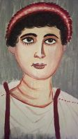 Roman Egypt Mummy Portrait by LadyArwynn16