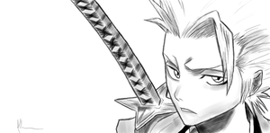 Hitsugaya Sketch by kitty-23