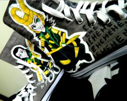 Loki Fangirl Shoes Follow Up by PumpedUpKicks-HT