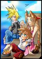 Sora and His 'Parents'... by We-Heart-Sora