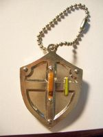 Link Hylian Shield Keychain 02 by StealthNinja5