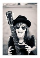 Girl with a black guitar 03 by Ciril