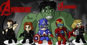 Chibivengers Assemble by Psyromayniak