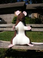 rattie plushie front view by Aycelcus