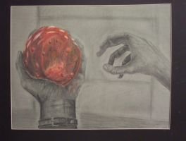 Red Orb with Hands by DarkAngelKalas