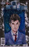 Doctor Who Tennant sketch cover by NickMockoviak