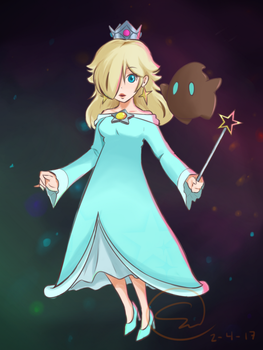 Rosalina and Luma by smidgencat