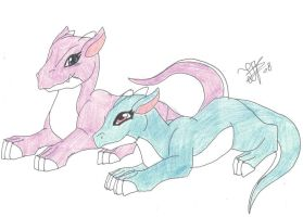 Basic 2 Baby Dragons by 12liza12