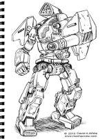 Art book tutorial example by Mecha-Zone