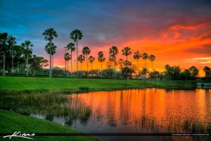 Palm-Beach-Gardens-Mall-Sunset-Along-Road by CaptainKimo