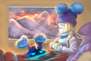 Lillie and Nebby chilling by GLV-DA