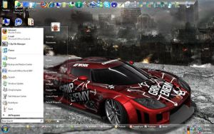 My desktop as of July 2008 by sunnybacon