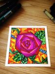 Geometric Rose by SuilaidRowan