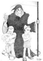 Billy, Mandy, and Grim by silentsketcher