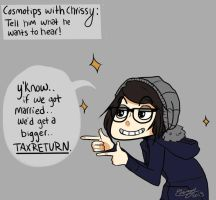 Cosmotips with Chrissy: Tax Returns! by Chrissytor