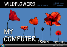 Wildflowers dock icons by Carburator