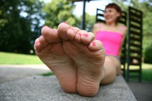 Under her soles by foot-portrait