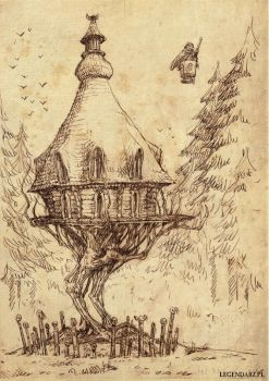 Baba Yaga's hut by Hetman80
