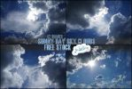 Sunny day sky clouds free stock by LilsRaven