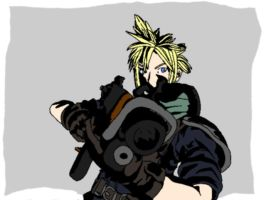 Cloud Strife - Colored by QueenGlitterbutt