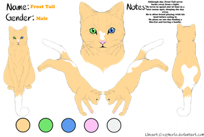 Frost Tail Reference Sheet (New OC) by SNlCKERS