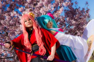 Cherry Blossom Luka + Miku by BertLePhoto