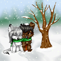 in the snow by nevaeh-lee