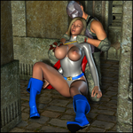 Toying With Powergirl by LordSnot