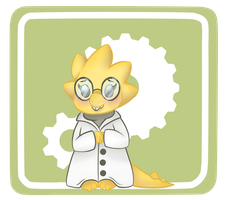 Alphys the Adorable Scientist by ChimeraCaptor