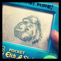 Etch-A-Sketch Art:: Kong by BlvqWulph