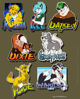 Commission: Badge Batch 2 by SilverDeni