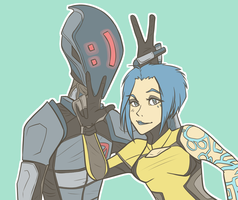Zer0 and Maya by Porkapine