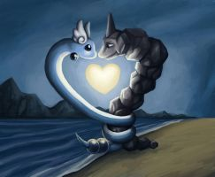 Onix and Dragonair by sushy00