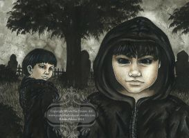 Black Eyed Kids by MysticFaeFantasyArt