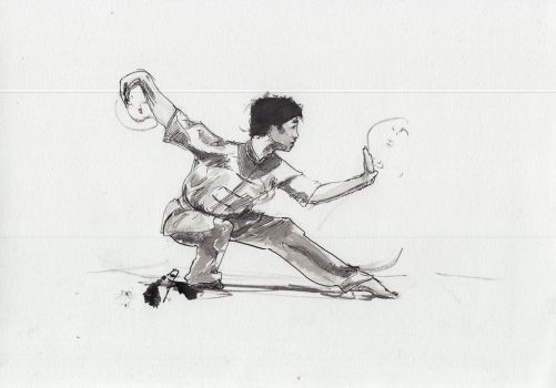 INKTOBER day 16 : Wushu by JeanTaty