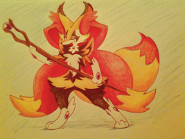 Fennekin Final Evo by ScarletSwift