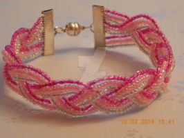 Plaited seed bead bracelet by Quested-Creations
