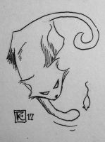 If only the cat had been away... #art #inktober by SylvanCreatures