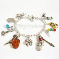 Writing Charm Bracelet by merigreenleaf